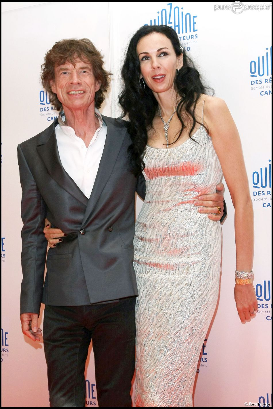 Mick Jagger et L'Wren Scott à Cannes, le 19 mai 2010.