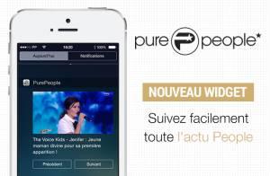 Découvrez le nouveau widget de l'application Purepeople sur iPhone