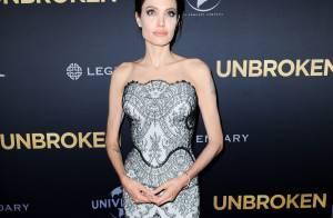 Angelina Jolie : 'Invincible', solaire et glamour au bras de son mari Brad Pitt