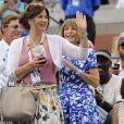 Mirka Federer et Ana Wintour avant la rencontre entre Marin Cilic et Roger Federer à l'US Open le 6 septembre 2014 à New York