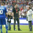 Nikola Karabatic au Stade de France pour la victoire de la France face à la Serbie