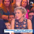 """Enora Malagré s'en prend au reportage concernant Thomas Vergara dans """"Sept à Huit"""" sur TF1. Emission """"Touche pas à mon poste"""" sur D8, le 18 novembre 2014."""