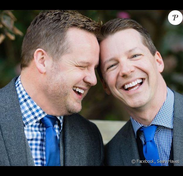 Sean Hayes et son mari Scott Icenogle, photo postée sur Facebook le 20 novembre 2014