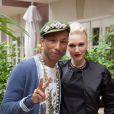 """Pharrell Williams et Gwen Stefani en conférence de presse pour le film """"Paddington"""", à Los Angeles le 1er décembre 2014."""