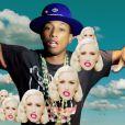 """Gwen Stefani et Pharrell Williams dans le clip """"Spark The Fire"""", décembre 2014."""