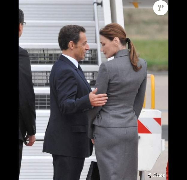 Carla Bruni et Nicolas Sarkozy, le 12/09/08