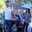 Exclusif - Megan Fox, son mari Brian Austin Green et leur fils Bodhi à Los Angeles. Le 26 septembre 2014.