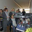 """Exclusif - Emilie Dequenne - Tournage du téléfilm """"Souviens-toi"""" à Libourne le 1er décembre 2014."""