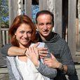 Exclusif - Emilie Dequenne et son époux Michel Ferracci aux Sources de Caudalie à Martillac près de Bordeaux, le 26 octobre 2014 à l'occasion de leur voyage de noces.
