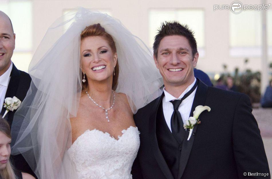 Exclusif - Mariage d'Angie Everhart et Carl Ferro à Santa Monica, le 6 décembre 2014.