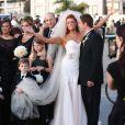 Exclusif - Le sublime mariage d'Angie Everhart et Carl Ferro à Santa Monica, le 6 décembre 2014.