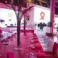 Ambiance - Dîner LINK pour les 30 ans de AIDES au Palais d'Iéna à Paris le 8 décembre 2014. LINK est un fonds de dotation créé par des femmes et des hommes, dirigeants de tous horizons qui ont choisi de se rassembler pour que soit gagnée la bataille contre le sida. Lors du dîner, Carla Bruni à donné un concert très émouvant.