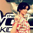 Jenifer heureuse de sa rentrée de coach dans The Voice Kids, sur Facebook le 29 octobre 2014
