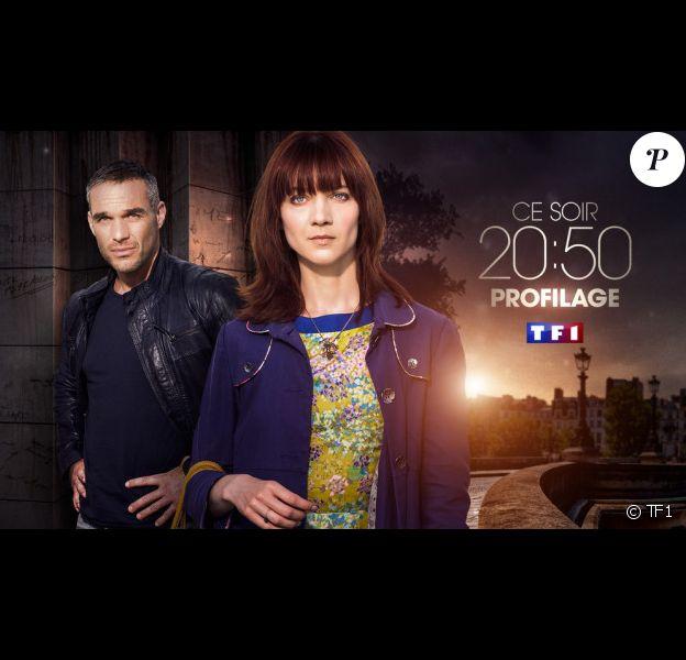Odile Vuillemin et Philippe Bas, héros de la série Profilage sur TF1.