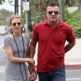 AnnaLynne McCord et son compagnon Dominic Purcell à Los Angeles, le 1er juin 2012.