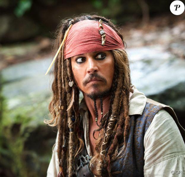 Johnny Depp en Jack Sparrow dans la saga Pirates des Caraïbes.