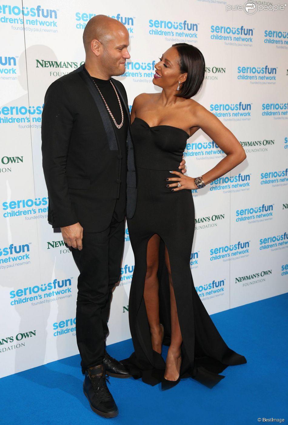 """Melanie Brown (Mel B) et son mari Stephan Belafonte lors de la soirée de gala """"Serious Fun Children's Network"""" à Londres, le 4 novembre 2014."""