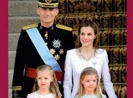 Letizia et Felipe VI d'Espagne : Carte de voeux ''so 2014'' avec Leonor et Sofia