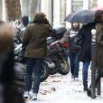 Halle Berry et son fils Maceo arrivent à Paris le 19 décembre 2014 pour passer les fêtes de Noël en compagnie d'Olivier Martinez, dans sa fille.