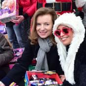 Valérie Trierweiler et Lââm : Mères Noël généreuses sur les Champs-Élysées