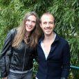Calogero et sa compagne Marie Bastide, au Village Roland-Garros le 10 juin 2012 à Paris