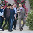Jeremy Piven, Jerry Ferrara, Adrian Grenier, Kevin Connolly et Kevin Dillon sur le tournage du film Entourage à Los Angeles