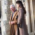 Le prince Charles, prince de Galles et Catherine Kate Middleton, la duchesse de Cambridge enceinte assistent à la messe de Noël à Sandringham, le 25 décembre 2014. Charles25/12/2014 - Sandrigham
