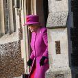 Catherine Kate Middleton, la duchesse de Cambridge enceinte et le prince Harry assistent à la messe de Noël à Sandringham, le 25 décembre 2014.