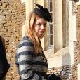 La princesse Beatrice assiste à la messe de Noël à Sandringham, le 25 décembre 2014.