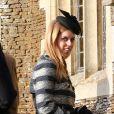 Princess Beatrice accompagnée des membres de la famille royale anglaise assiste à la messe de Noël à Sandringham, le 25 décembre 2014.