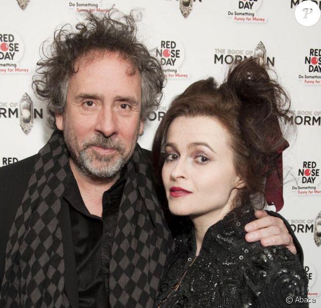 Tim Burton et Helena Bonham Carter en soirée à Londres le 13 mars 2013