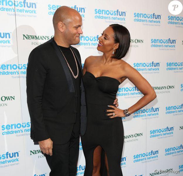 """Melanie Brown et son mari Stephan Belafonte lors de la soirée de gala """"Serious Fun Children's Network"""" à Londres, le 4 novembre 2014."""