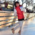 Sarah Abitbol anime une séance de Ice Fitness avec Stéphane Rotenberg sur la patinoire de Noël des Champs-Elysées à Paris, le 29 décembre 2014.29/12/2014 - Paris