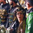 """Lorie dans les coulisses de """"Dragon Blade"""". Son nouveau film aux côté de Jackis Chan, John Cusack et Adrien Brody... (sortie chinoise le 19 février 2015)"""