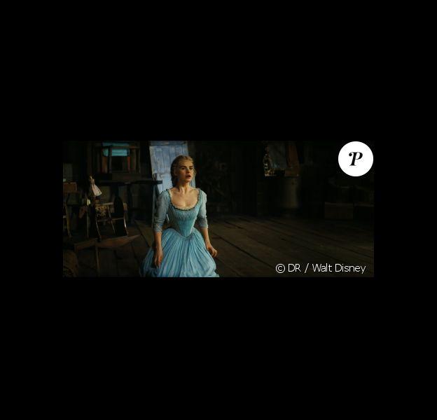 Lily James, dans la bande-annonce du film Cendrillon, en salles le 25 mars 2014.