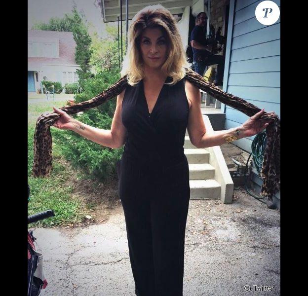 Kirstie Alley sur le tournage de The Middle le 4 janvier 2015