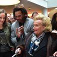 Bernadette Chirac et Christian Karembeu - Lancement de l'Opération Pièces Jaunes au Centre Hospitalier Intercommunal de Robert Ballanger à Aulnay-Sous-Bois le 7 janvier 2015.