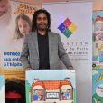 Christian Karembeu - Lancement de l'Opération Pièces Jaunes au Centre Hospitalier Intercommunal de Robert Ballanger à Aulnay-Sous-Bois le 7 janvier 2015.