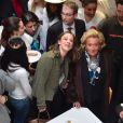 Bernadette Chirac lors du lancement de l'Opération Pièces Jaunes au Centre Hospitalier Intercommunal de Robert Ballanger à Aulnay-Sous-Bois le 7 janvier 2015.