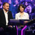 Marie-Claude Pietragalla et François-Xavier Demaison - Émission spéciale Qui veut gagner des millions ?, sur TF1, ce vendredi 9 janvier 2014.