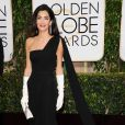 Amal Clooney très élégante dans une robe Christian Dior Couture lors de la 72e cérémonie annuelle des Golden Globe Awards à Beverly Hills, le 11 janvier 2015.