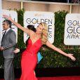 Heidi Klum, en Atelier Versace - 72e cérémonie des Golden Globe Awards à Beverly Hills, le 11 janvier 2015.