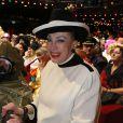 Exclusif - Geneviève de Fontenay - Patrick Sébastien fête ses 40 ans de scène à l'Olympia à Paris, le 14 novembre 2014.