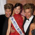 Igor et Grichka Bogdanoff (Bogdanov), Miss Prestige National - 38e édition de la cérémonie des Best au Salon Hoche à Paris le 15 décembre 2014.