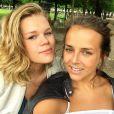 Camille Gottlieb et Pauline Ducruet, filles de la princesse Stéphanie de Monaco, aux Tuileries à Paris, en juin 2014. Photo publiée sur Instagram.