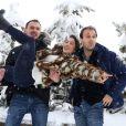 """Fanny Valette, Antoine Gouy et Paul Lefevre pour le film """"A Love You"""", le 17 Janvier 2015, lors du 18éme festival international du film de comédie de l'Alpe d'Huez"""