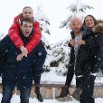 """Pio Marmaï, Adrianna Gradziel, Franck Gastambide et Camille Cottin pour le film """"Toute Première Fois"""", le 17 Janvier 2015, lors du 18éme festival international du film de comédie de l'Alpe d'Huez"""