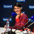 Alessandra Sublet pour 'Petit Dimanche entre Amis', sur Europe 1, le 17 Janvier 2015, lors du 18éme festival international du film de comédie de l'Alpe d'Huez