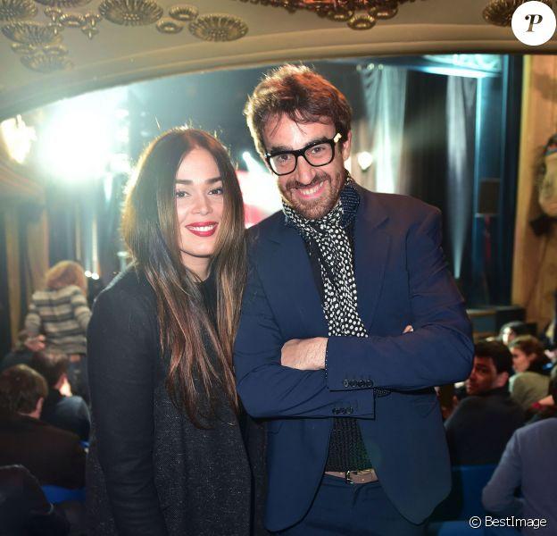 Lola Dewaere et son ami Nicolas Ullman - 9e cérémonie des Gérard de la Télévision au théâtre Daunou à Paris, le 19 janvier 2015.