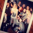 Fauve Hautot et tous ses copains sur la tournée de Danse avec les stars, en janvier 2015